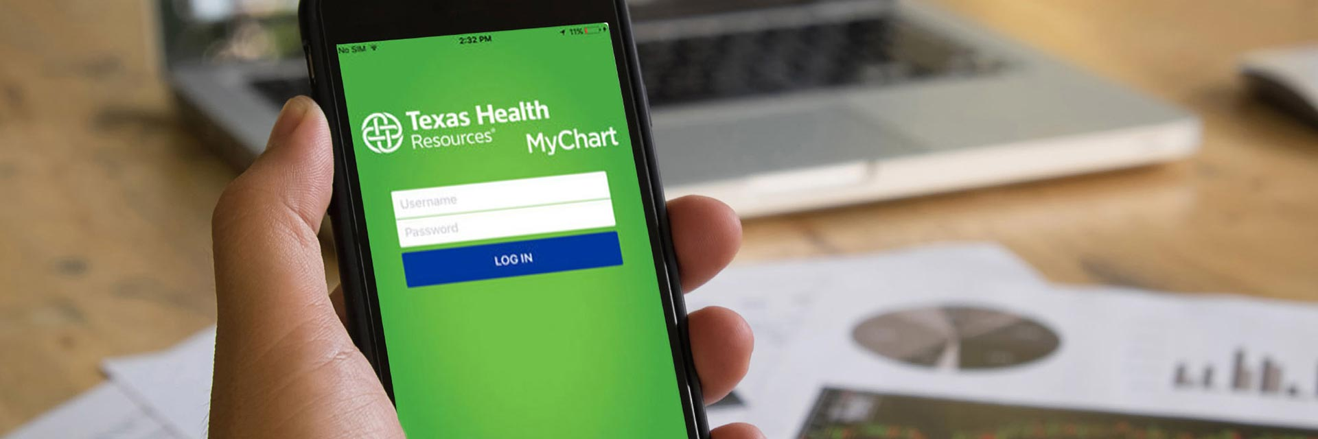 MyChart App on Cell Phone